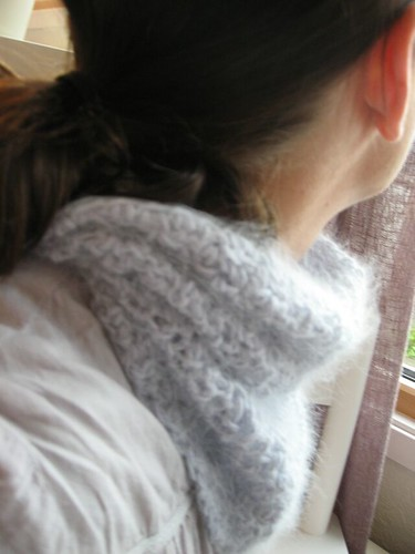 Crocheted neck warmer