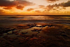 Tide Pools (Zach Dischner) Tags: ocean lighting light sunset sea reflection nature canon landscape eos hawaii cool long exposure natural tide north pools shore 7d epic paciffic tamron1750 canon7d eltringexcellence
