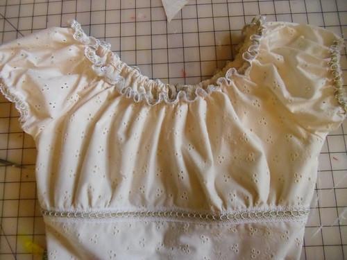 eyelet dress - top