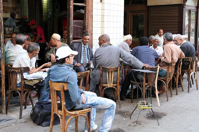 エジプト、カイロのカフェ