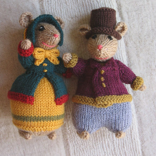 Ravelry Dickensian Mice Outdoor Pattern By Alan Dart