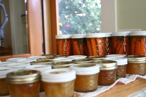 Apple Ginger Jam and Carrots with Dill,  Honey and Vinegar