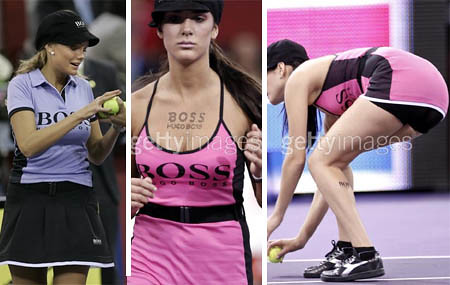 boss models - madrid masters tennis - ballgirls