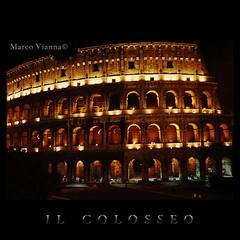 il Colosseo di notte (m@®©ãǿ►ðȅtǭǹȁðǿr◄©) Tags: italy rome roma canon arquitectura italia kodak coliseo colosseo canoneos500n ilcolosseo fotografiadearquitectura canon28÷80mmf3556 m®©ãǿ►ðȅtǭǹȁðǿr◄© ilcolosseodinotte marcovianna imagenesderoma fotografiaangalogica peliculaparanegativo