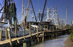 Shrimp Boats (Angie Chestnut) Tags: docks florida hdr shrimpboat esterobay shrimpboats canoneos5d