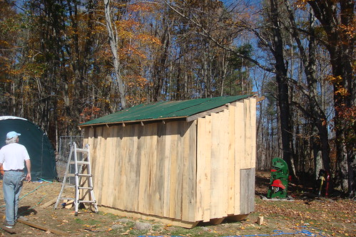 Weu0027ve Been Using Those Dark Green Metal Panels From Home Depot To Make Shed  Roofing Over The Years. I Bought Quite A Few Of Them A Few Years Ago, ...