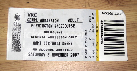 Racing ticket