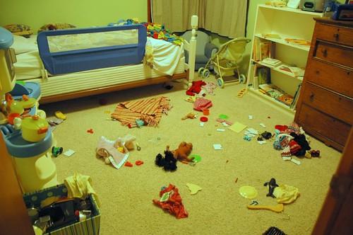 "Jessica's interpretation of ""Clean your room, please"""