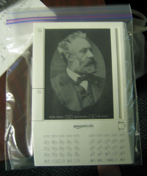 Kindle in a baggie!