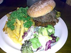 Paso Burger at Edinburgh's Tiles Cafe Bar