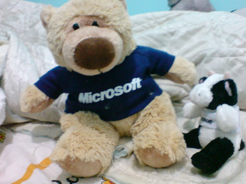 Microsoft bear & cow