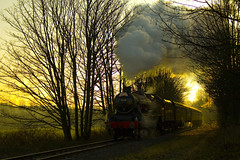 LMS Steam Engine (Ian Lambert) Tags: santa uk england sun cold train frozen bury track engine freezing railway trains steam lancashire east special crisp passanger elr lms ramsbottom blueribbonwinner mywinners platinumphoto anawesomeshot ysplix platinumheartaward betterthangood rickspixtop50