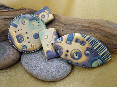 Twilight Focal Beads (julie_picarello) Tags: house yellow beads julie jewelry mg polymer gane mokume picarello