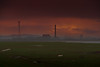 Uskmouth Power Station at Dusk (virtual_tony2000) Tags: sunset wales britain dusk estuary severn newport powerstation levels gwent uskmouth lighthouseinn