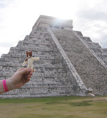 Toots at the Chichen Itza ruins