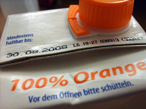 orange juice - expiration date: August 30th, 2008