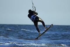 the kite surfer 1 (maxpiemontese) Tags: sea italy mare kitesurfing latina sabaudia maredinverno