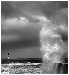 Wild Sea (linlaw39) Tags: ocean winter sea wild sky blackandwhite bw lighthouse storm nature water weather clouds canon eos mono coast scotland blackwhite interestingness interesting gallery waves seascapes aberdeenshire harbour wave explore northsea converted northeast seaview blackdiamond fraserburgh theworldwelivein photographia stormysea bytheseaside explored competitionwinner theunforgettablepictures theunforgettablepicture artlegacy bwartaward tup2 rocchecastelli saariysqualitypictures rocchefariecastellicastleslighthosesbelltowers famoussquarecaptures updatecollection waterenvirons bestcapturesaoi bestinmonochromaticclass monochromeformsinvisualarts magicunicornverybest magicunicornmasterpiece sailsevenseas elitegalleryaoi mostinterestingnovember09 linlaw39