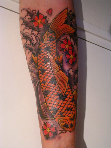 koi fish tattoo sleeve. Flickr: The Koi Tattoo Pool
