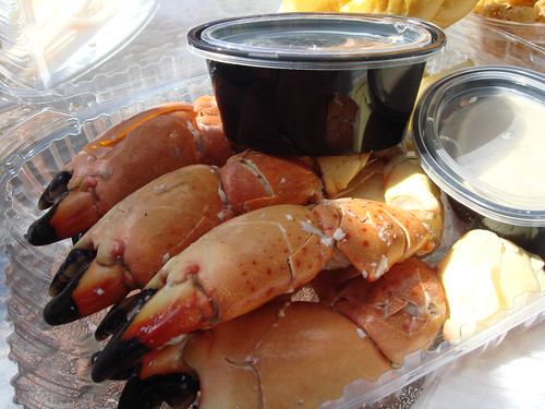 Our Lunch Of Select Stone Crab Claws