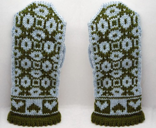 Kiss that Frog Mittens - back side
