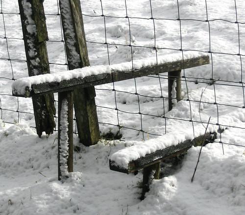 Stile in snow