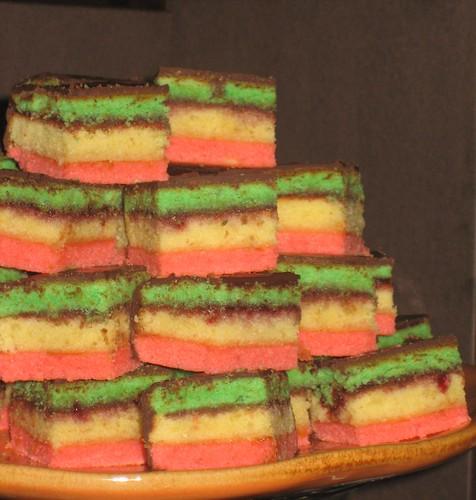 Italian Rainbow Cookie Wedding Cake
