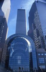 WTC (Rob de Hero) Tags: new york nyc newyorkcity newyork tower analog manhattan worldtradecenter slide dia wtc analogue worldfinancialcenter steelandglass stahlundglas