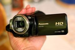 Panasonic HDC-SD5 three-quarter view
