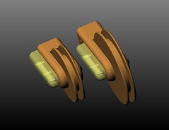 pulley size compare - isometric front