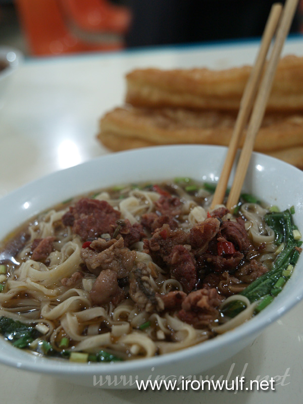 Beef noodle with Youtiao (dough stick)