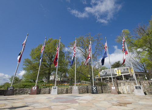 Flags Of The Seven States Which Can Be Seen From Rock City