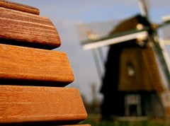 Bench (Gert *1957*) Tags: wood holland haarlem windmill canon bench rebel nederland picasa bank molen hout ringvaart molenplas