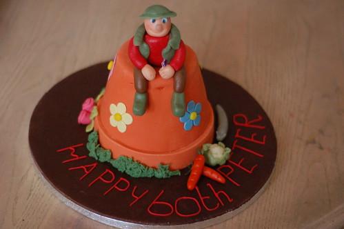 Flowerpot birthday cake