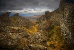 lfaborg ... (asmundur) Tags: rock canon landscape eos iceland high bravo bracket hike elf vignette hdr monopod 30d 3xp grindavik fdrtools elfrock orbjrn mtthorbjorn elfcity