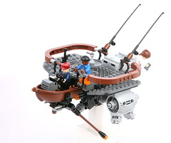Retired Commodore Simon Melville (jehkay) Tags: sky boat flying fishing lego skyfi