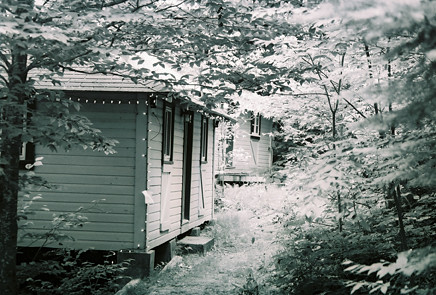 Bunkhouses on the wedding camp ground.