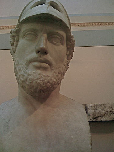 Giant head of Greek Soldier