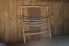 Senkrechter Webstuhl im Langhaus Haithabu 10-05-2009