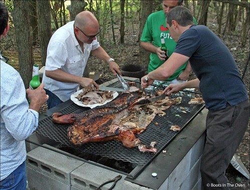 Then we left to go to a Cuban-style pig pickin'.