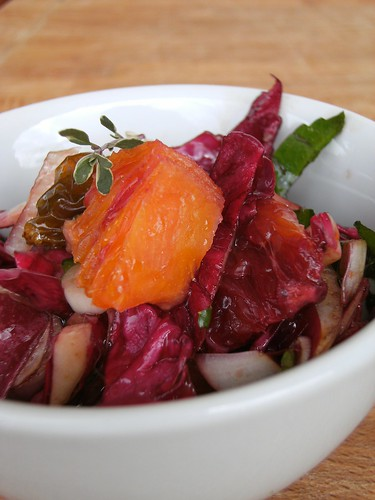 orange, radicchio, sellery