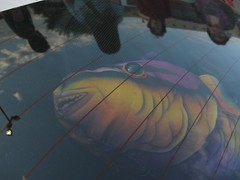 Under glass (pianoforte109) Tags: sky people fish reflections streetlamp echo pillow seguin