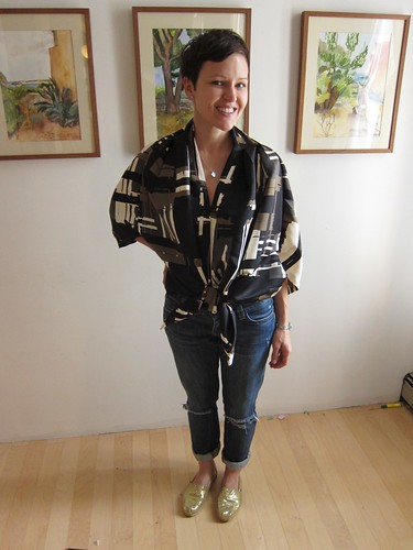The Brooklyn BurdaStyle Sewing Club: Robin in Self-Drafted Jacket