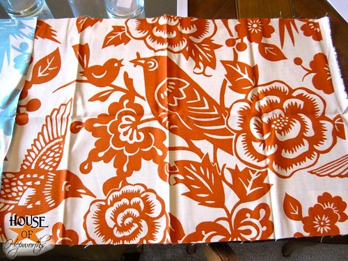 Later I Was Tickled Pink Orange When Found Out The Same Fabric Also Came In Tangerine At That Moment My Dining Rooms Fate Sealed