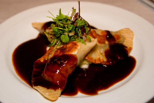 Braised Short Rib Pierogies at Braddock's American Brasserie