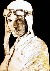 aviator (Amelia Earhart) (mc1984) Tags: portrait flickr dessin draw aviator mc1984