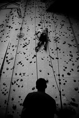 Up (mcsigu) Tags: bw face rock wall belgium climbing mons nord facenord