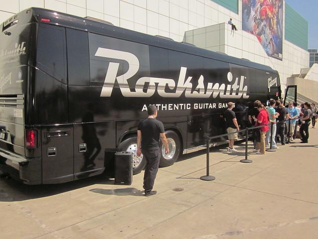 Ubisoft ROCKSMITH, Electronic Entertainment Expo 2011, LA Convention Center