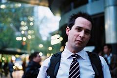 mister scottie (theurbannexus) Tags: friends urban film mall nikon fuji australia melbourne victoria fujifilm vic f80 n80 mate scottie iso1600 swanstonst bourkestmall natura1600 streetmall cityofmelbourne madeinwellington