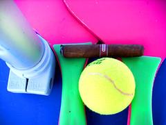 composition (archgionni) Tags: blue beach relax blu tennis spiaggia bal palla sigaro ombrellone
